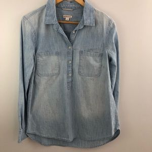 large MERONA chambray blue popover top